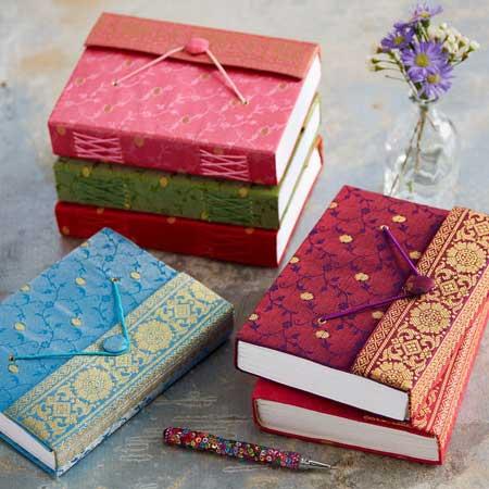Sari travel journal, unique travel accessories for women