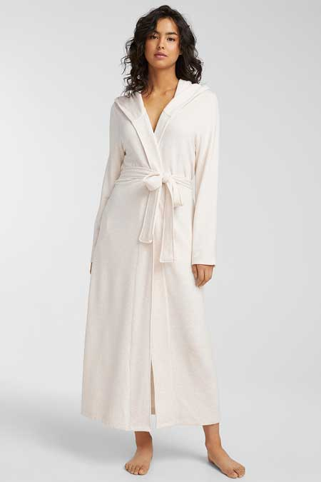 Soft long robe, luxury travel accessories for women