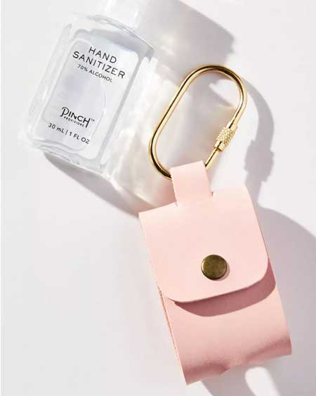 Clip-on pouch for hand sanitizer, cute travel accessories for women