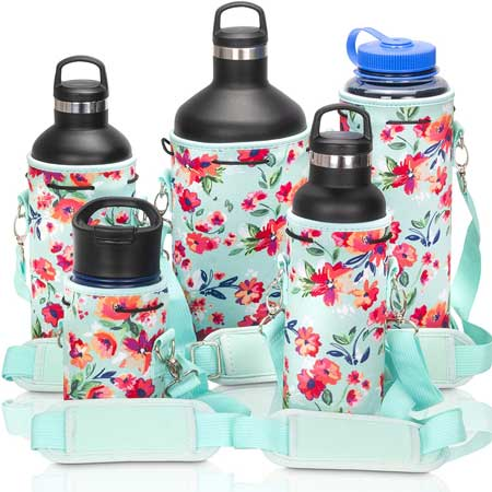 Water bottle sling, cute travel accessories for women