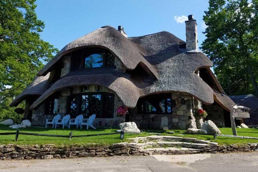 Mushroom Houses, unique romantic getaways in Michigan