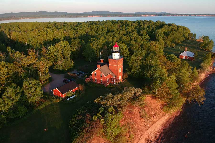 Big Bay Point Lighthouse Bed and Breakfast, Michigan romantic getaways on Upper Peninsula