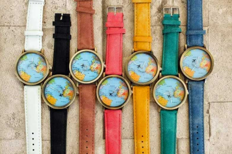 Travel-themed watch, gift ideas for students studying abroad
